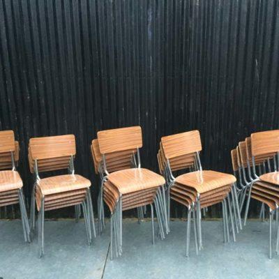 formica fineer schoolstoelen chaises écolier