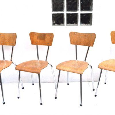 plywood vintage schoolstoelen