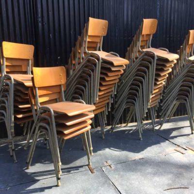 kantine cafe horeca vintage retro chaises stoelen industrial style groot lot_GoodStuffFactory