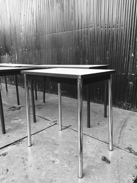 kantinetafel formica vintage industriele HORECA tafel ijzeren frame_GoodStuffFactory