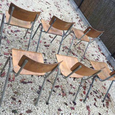 vintage kantinestoelen stapelstoele stapelbaar cafestoel horeca _GoodStuffFactory