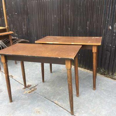cafe tafels vintage retro houten tafels _GoodStuffFactory