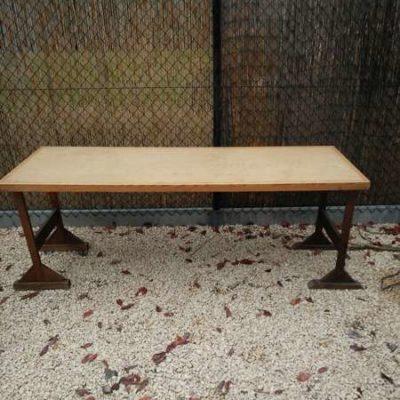 houten tafels schragen retro vintage_GoodStuffFactory