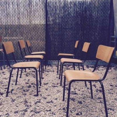 retro vintage industrial sTAPEL stoelen bruin frame_GoodStuffFactory