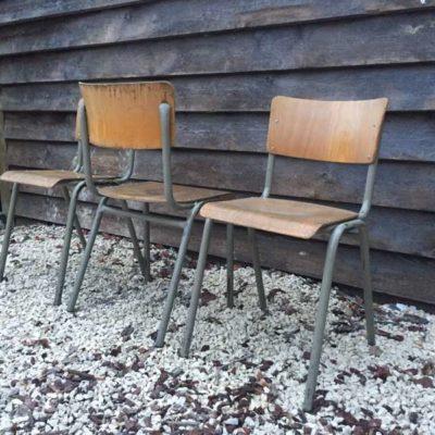 retro vintage industrial sTAPEL stoelen grijs groen frame_GoodStuffFactory