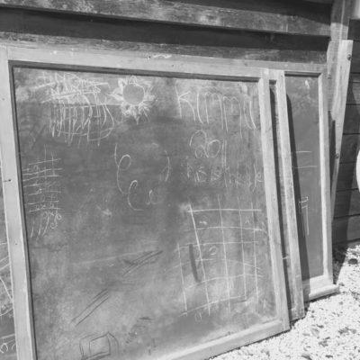 bord school vintage brocante Horeca schoolbord krijtbord hout_GoodStuffFactory