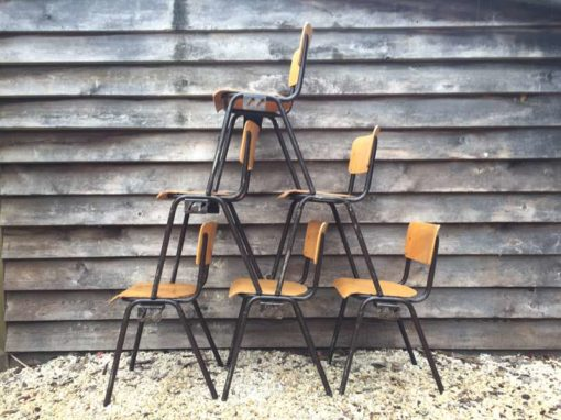 bruin frame stoel stool chair chaise retro brocante vintage industrieel industrial look GoodStuffFactory