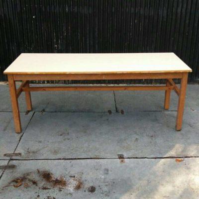 vintage retro houten tafel table 2 meter GoodStuffFactory