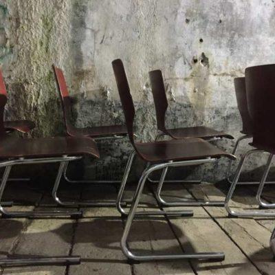 Flototto Pagholz stapelen houten stoelen Pagwood Studio Loft Chrome Office Desk industriel barista brasserie koffiebar vintage retro GoodStuffFactory