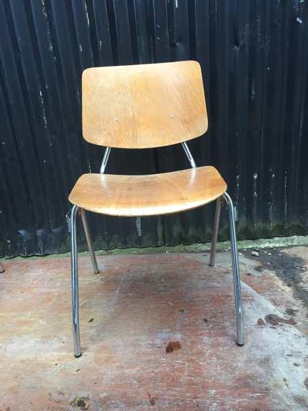 chrome plywood industrial vintage retro stoel stuhl stolar_GoodStuffFactory