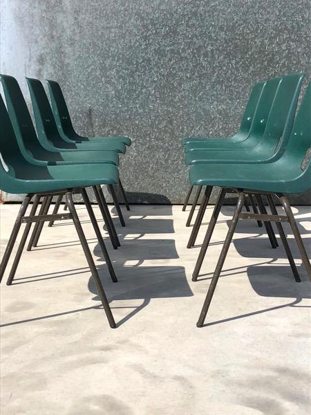 vintage horeca groene barista stoelen_thegoodstufffactorybelgium