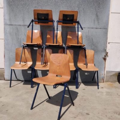 Galvanitas S30 stoelen chaises chine du jour horeca terras cafe resto vintage retro the good stuff factory formica tafel piece unique (