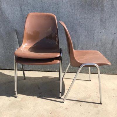 melkchocolade pvc stoelen retro_thegoodstufffactory_Be