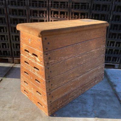 4 stuk plint turnbok gymkast turnkast gympaard retro vintage_thegoodstufffactory