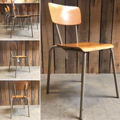 TUBAX GREEN groene kantinestoelen canteens chinedujour ostalgie kindern retro vintage stuhl stoel stolar_thegoodstufffactory