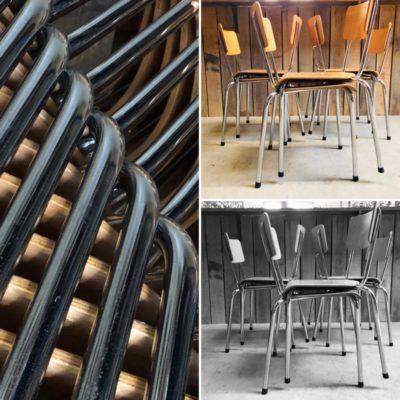 chrome kantinestoelen canteens chinedujour ostalgie kindern retro vintage stuhl stoel stolar_thegoodstufffactory