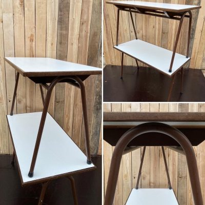 Tubax tafel marron bruin cowork hospitality interior industrial raw materials retro vintage upcycled_thegoodstufffactory_be