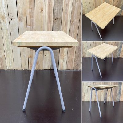 rubberwood tafel cowork hospitality interior industrial raw materials retro vintage upcycled_thegoodstufffactory_be