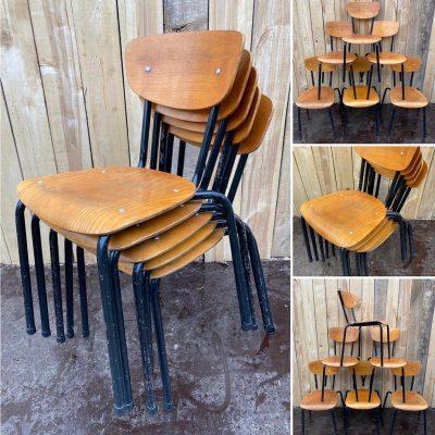 black beauties zwarte stoelen chaises stolar retro vintage_thegoodstufffactory_be