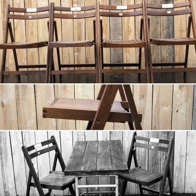 klapstoelen plooistoelen exterieur terras horeca tafels tables couverts retro vintage nostalgie ostalgie school_thegoodstufffactory_be