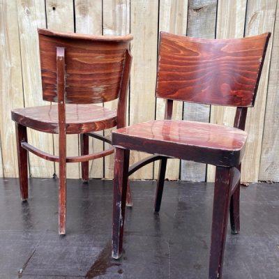 bruine houten cafestoel retro design_thegoodstufffactory