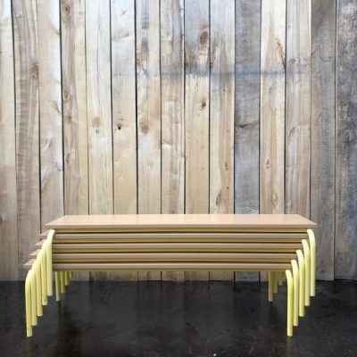 gele bank bench retro vintage_thegoodstufffactory_be