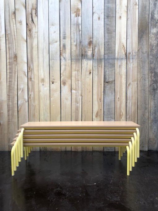 gele bank bench retro vintage_thegoodstufffactory_be