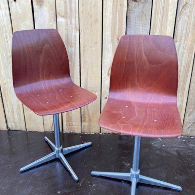 pagholz chrome kruisvoet co work space stoelen vintage retro_thegoodstufffactory