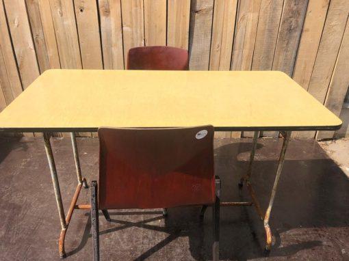 gele tafels interieur horeca cafe resto desk_thegoodstufffactory