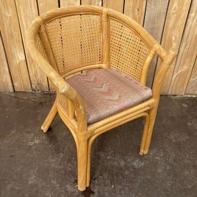 bruin rotan riet stoel stolar chaise ancienne oud horeca cohab interior _ retro vintage _thegoodstufffactory