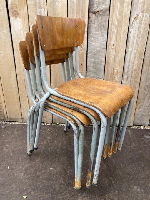 Raw vintage stoelen (Set van 4)