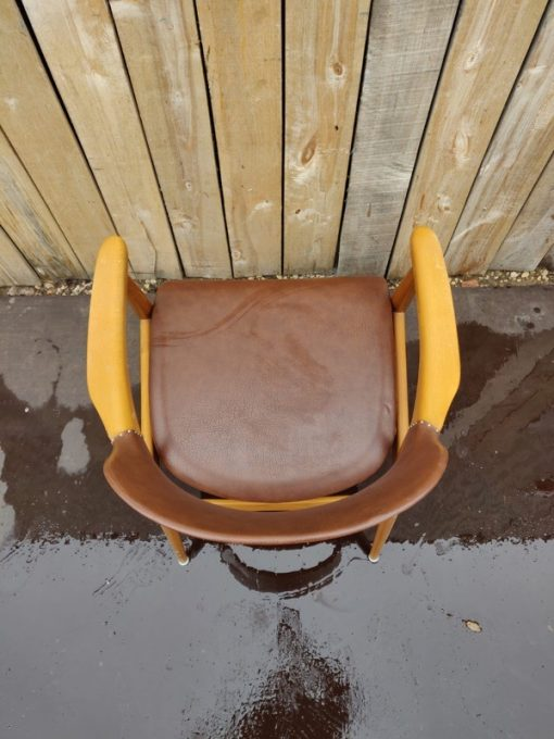 kirkegaard denemarken danoise design oak Hong Stolefabrik, model 43 armchairs_thegoodstufffactory_be