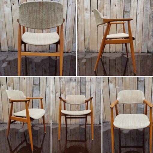 kirkegaard wool denemarken danoise design oak Hong Stolefabrik, model 43 armchairs_thegoodstufffactory_be