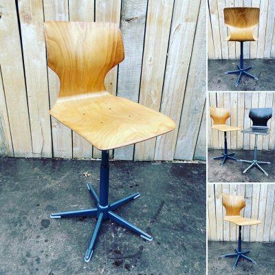 lichte kleur atelier deskchair pagholz exterieur design seventies ostalgie industrial antiques hospitality_thegoodstufffactory_Be