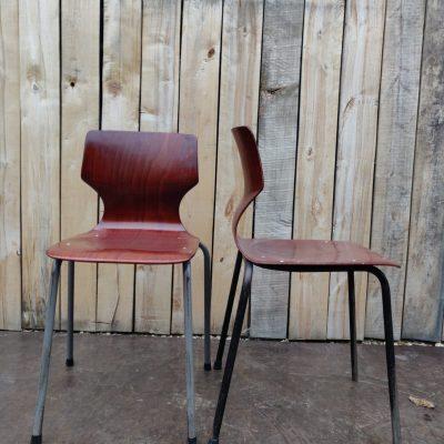 pagholz stoelen vintage retro canteens