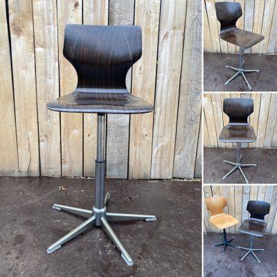 zwarte kleur atelier deskchair pagholz exterieur design seventies ostalgie industrial antiques hospitality_thegoodstufffactory_Be