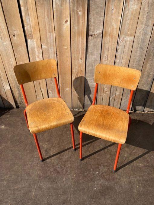 stoel chaise chair rood oranje pastel cafe bar horeca terras resto hospitality interior industrial antiques_thegoodstufffactory_be