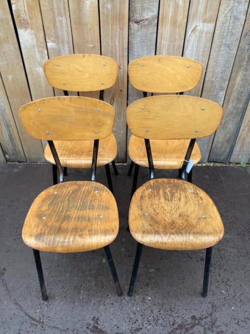zwarte black noire chaise chair vintage new industrial retro ostalgie dutch design retro chine du jour_thegoodstufffactory